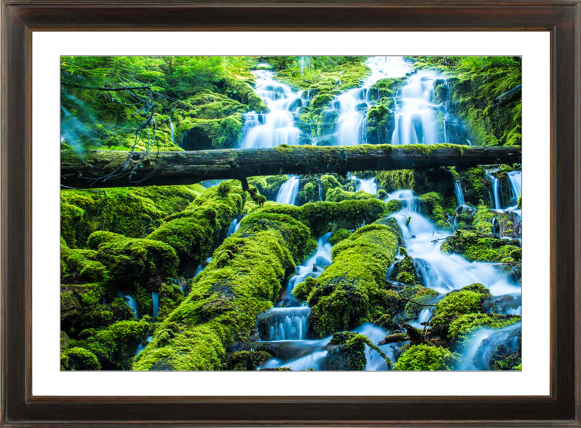 Framed Print of a Waterfall in Oregon