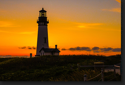 Yaquina Head Lighthouse in Newport Oregon by Skip Weeks
