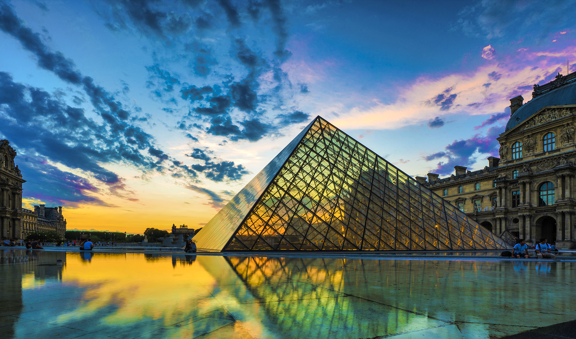 The Louvre in Paris By Skip Weeks