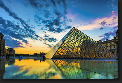 The Louvre Museum in Paris by Skip Weeks