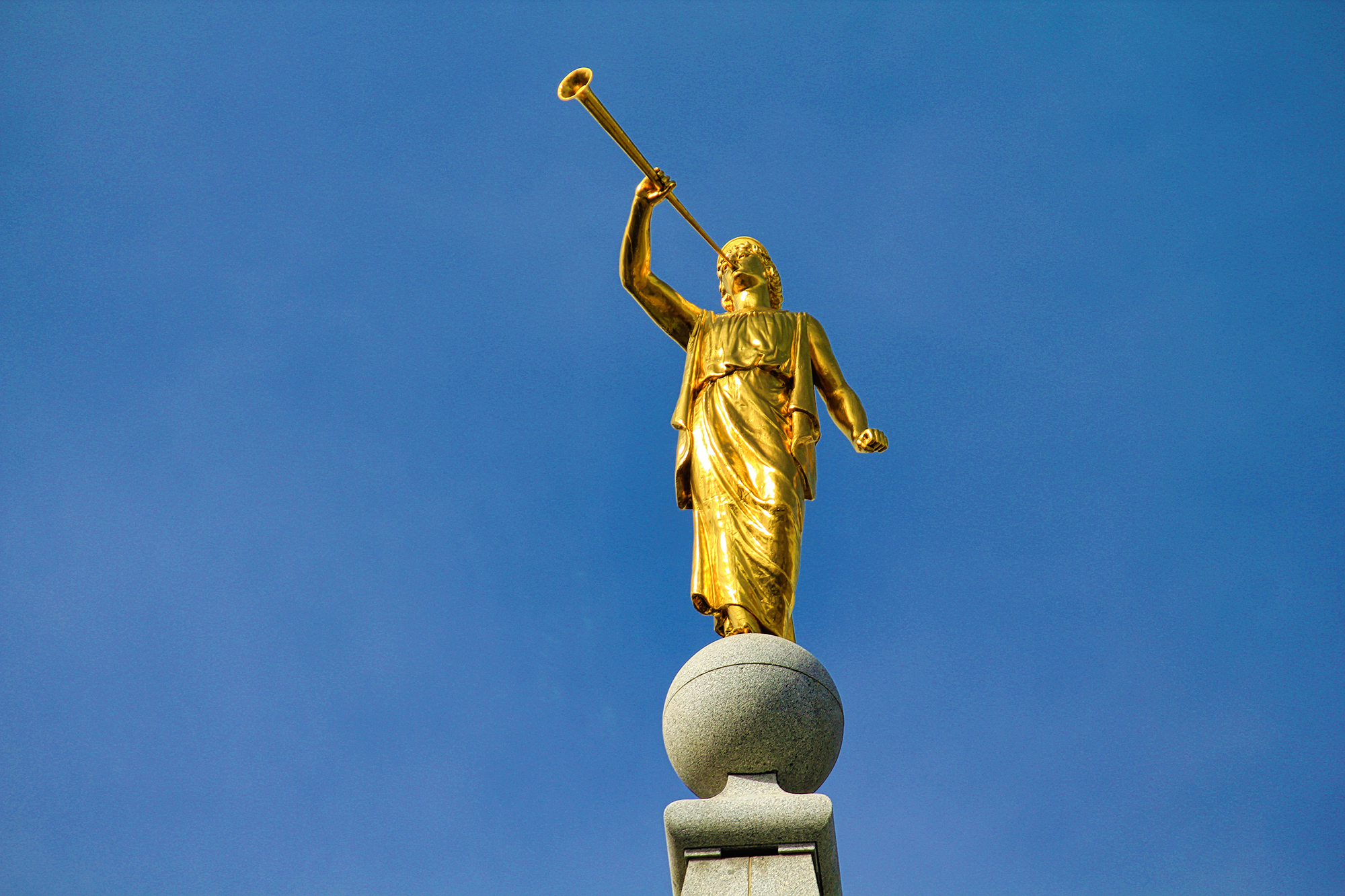 Angel Moroni on the Salt Lake Temple by Skip Weeks